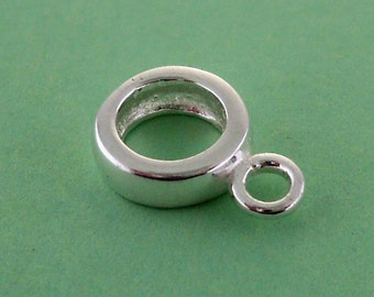 Sterling Silver Charm Holder Charm Bead Bail