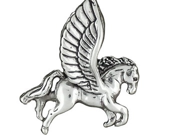 Sterling Silver Pegasus Charm Pendant Fantasy Winged Horse