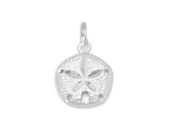 Sand Dollar Charm 925 Sterling Silver Pendant Beach Sea Shell Animal
