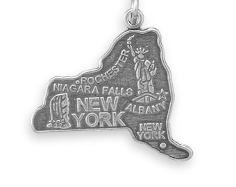 Sterling Silver New York State Charm America Statue of Liberty Niagara Falls