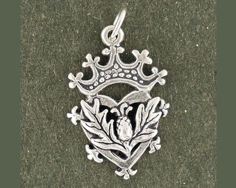 Thistle Charm Sterling Silver Pendant Scottish Scotland Luckenbooth