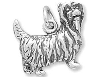 Sterling Silver Yorkshire Terrier Charm Pendant 3d Dog Yorkie