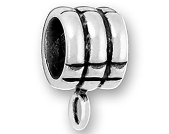Sterling Silver Rings Charm Bead Add a Charm Holder