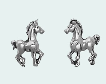 Horse Earrings Sterling Silver Posts Studs Tiny Mini Pony Colt