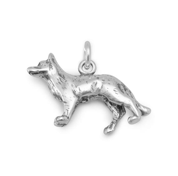3-D Sterling Silver COYOTE HOWLING  CHARM
