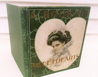 Antique Book | Book of Sweethearts | Harrison Fisher | Picture Book | Gibson Girls | 1908 First Edition