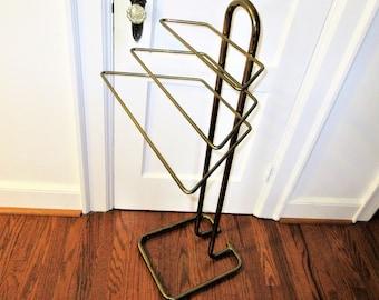 Vintage Brass Rack   Valet Butler   Brass Blanket Rack   Pants Rack   Quilt Rack   Towel Rack   Metal Hanger   Clothes Organizer