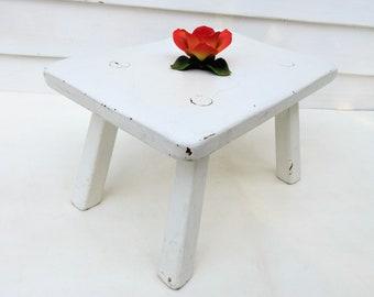 Vintage Wood Stool | Wooden Footstool | Cushman Furniture | Wood Step Stool | Wood Foot Stool | Small Bench