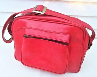 Vintage Travel Bag | Vinyl Tote | Carry On Luggage | American Tourister Tote | Airline Bag | Diaper Bag | Adjustable Shoulder Bag