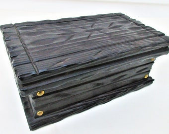 Vintage Wood Carved Box | Wood Box Spain | Hand Carved Chest | Old Wooden Box | Wood Casket | Jewelry Chest Box