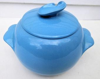 Vintage Frankoma | Frankoma Pottery | Robbin Egg Blue Pottery | Cookie Jar | Casserole Dish with Lid | Oklahoma Pottery