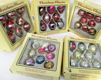 vintage christmas ornaments etsy