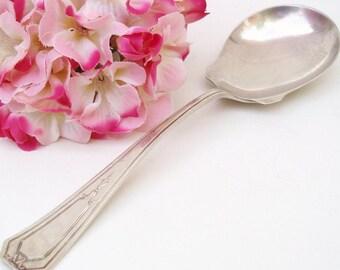 Antique Sterling Spoon | Sterling Silver Flatware | Serving Spoon | Wallace Sterling | Sterling Berry Spoon | Casserole Server