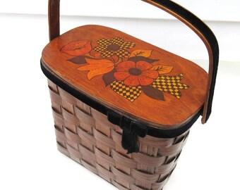 Vintage Box Purse | Wooden Purse | Basket Purse | Wood Tote | Wood Purse | Decoupage  Handbag | Box Purse