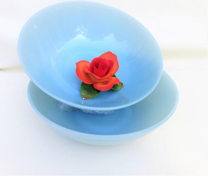 Vintage Blue Jadeite  Fireking Delphite Mixing Bowls  image 0