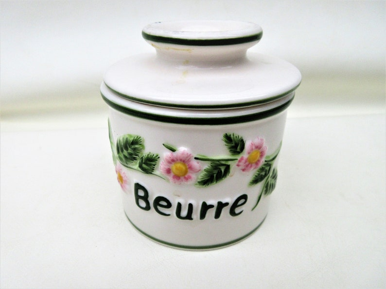 Vintage French Butter Keeper  Butter Crock  Soft Margarine image 0