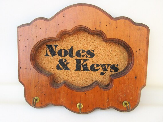 Vintage Wall Rack Key Rack Wood Key Holder Hanging Key Etsy