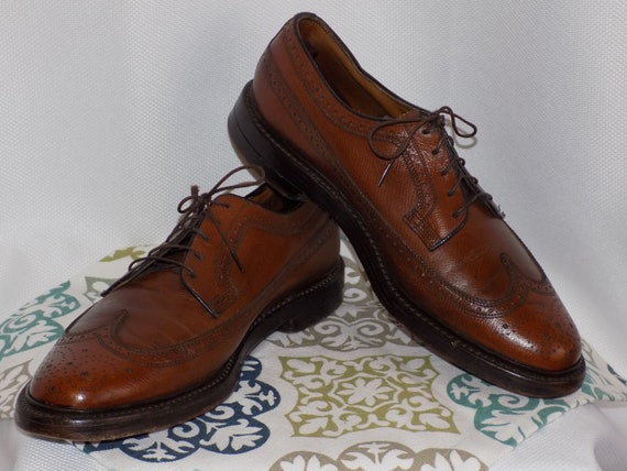 Vintage Brown Leather Long Wing Derbys by Florshei