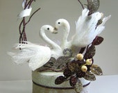 Swan Wedding Cake Topper,...