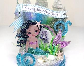 "Child's ""Undersea Mermaid"" Birthday Cake Topper"