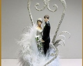 1920's Old Hollywood Glamour, Art Deco Cake Topper