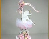 Little Girls Ballerina Cake Topper, Centerpiece, Keepsake Box, Little Girls Sugar Plum Fairy