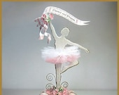 Sugar Plum Fairy, Ballerina Cake Topper, Ballerina Centerpiece, Keepsake Box