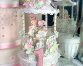 Victorian Tea Party Birthday Cake Topper, Keepsake Box, First Birthday Cake Topper