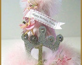 Princess Party Hat, 1st Birthday Hat, Fairy Princess Hat