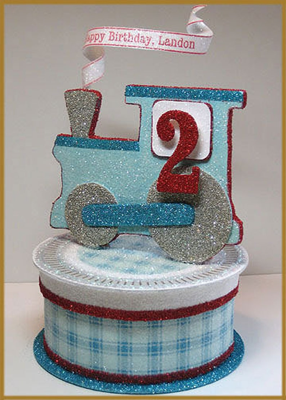 Vintage Train Cake Topper Keepsake Box