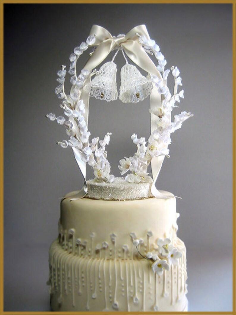 Vintage Wedding Bells Cake Topper