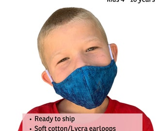 Face Mask for Children - Three Layer Cotton Mask For Kids