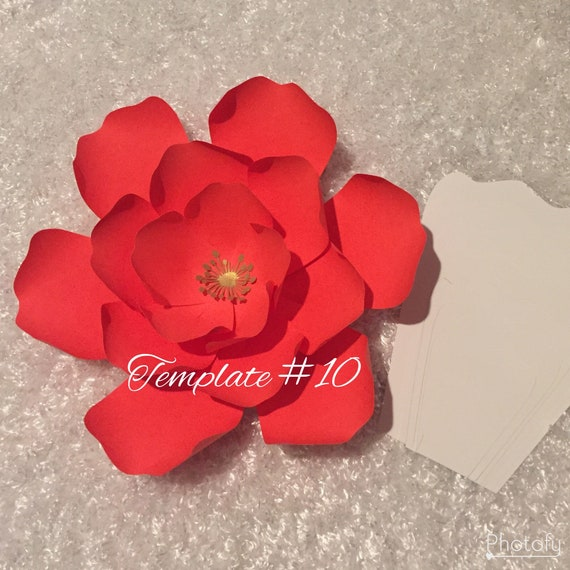 Pdf 10 Paper Flower Template Diy Giant Paper Flowers Etsy