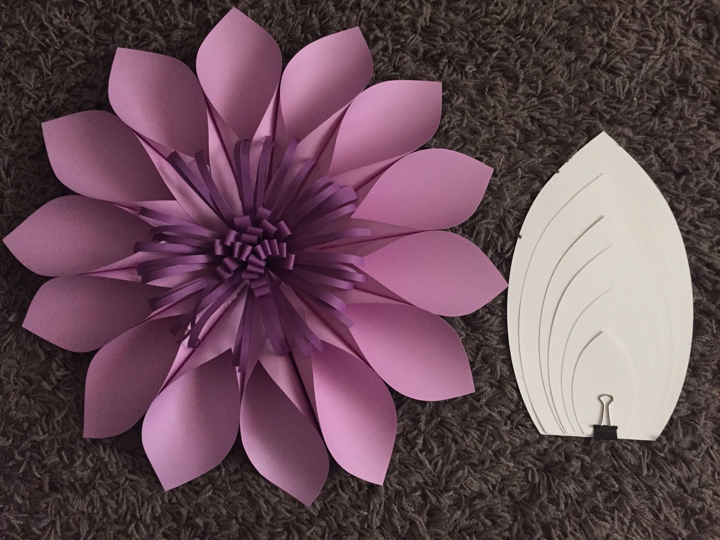 Pdf Paper Flower Template 2 Digital Version Diy Paper Etsy