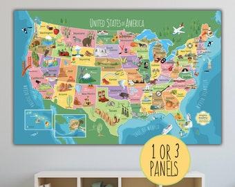 Children usa map | Etsy