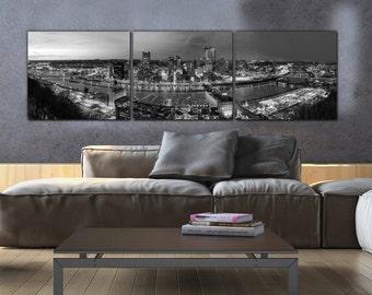 f0b85a4f7e6 Pittsburgh Skyline on Canvas