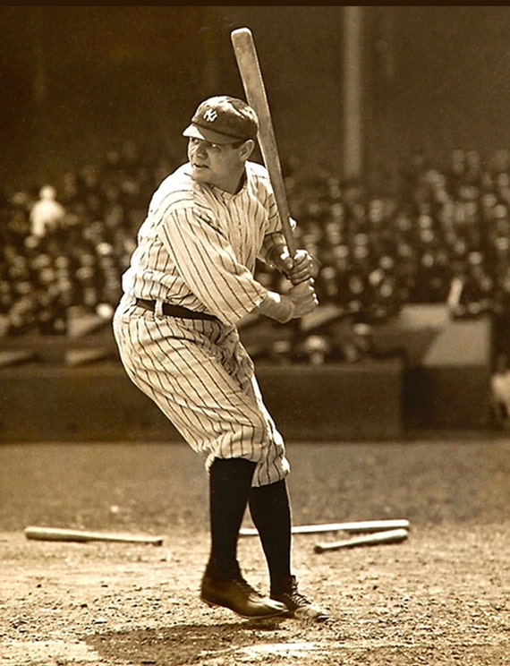 A3 Babe Ruth Vintage Baseball Large Poster A1 A4 sizes A2