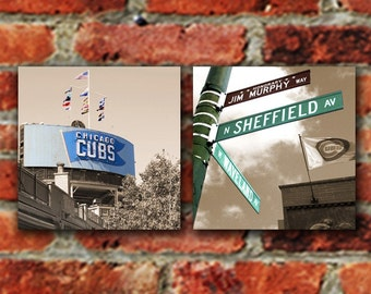Chicago Cubs  Set of 2 - Any Wrigley Field Canvas Print