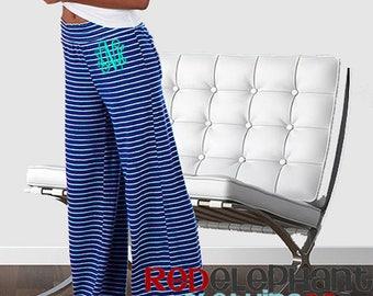 Monogram Lounge Pants, Monogrammed Pajama Pants, Monogram Sleepwear, Personalized Bridesmaid Gift, Monogram Loungewear, Personalized Pants