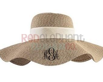1088d105278da Monogrammed Floppy Hat