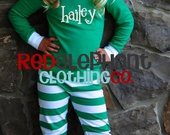 Monogrammed Christmas Pajamas, Kids Valentines Pajamas, Family Christmas Pajamas, Personalized Christmas Pajamas, Adult Christmas Pajamas