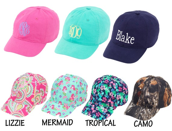 Monogram Toddler Hat Personalized Baseball Cap for Children  b34a6a65270