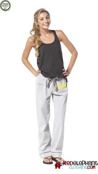 Kappa Alpha Theta Pajamas, Theta Lounge Pant, Sorority Sleepwear, Sorority Pajama Pant, Greek Pajamas, Theta Pajama Pants, Seersucker Pants