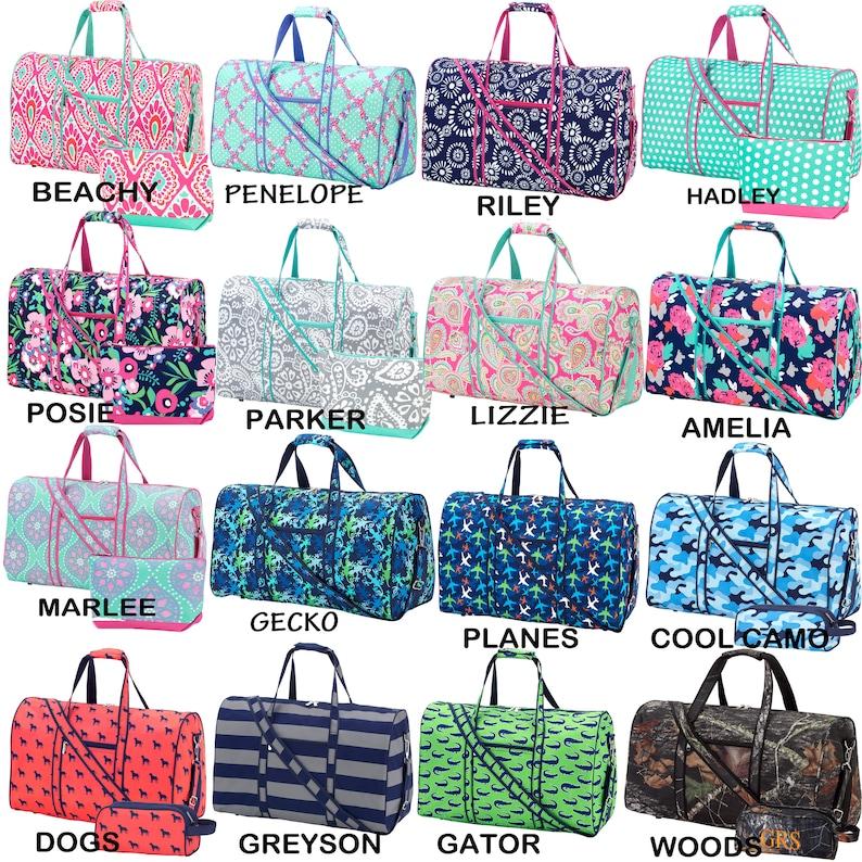 54644188b9 Monogram Duffle Bag Personalized Duffel Bag Overnight Tote