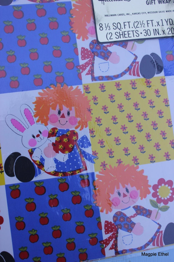 Boxes or Paper Gift Bags NEW Raggedy Ann Gift Wrapping Paper