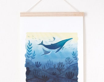 colorful landscape art print, Landscape giclee print, giclee art print A4