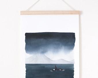 moody landscape print, Landscape giclee print, giclee art print A4