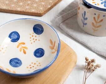 Handmade Ceramic small bowl, small serving bowl, ready to ship, small blue bowl, blue serving bowl