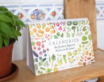 Gift for vegetarian, Gift for vegan, kitchen calendar, Seasonal calendar, Fruit calendar, vegetables calendar, foodie gift