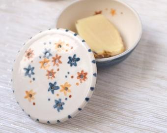 ceramic soap dish, Soap dish, handpainted soap dish,